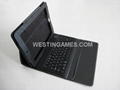 Wireless Bluetooth Silicon Keyboard Leather Case Cover for Apple iPad 2 iPad 3 -