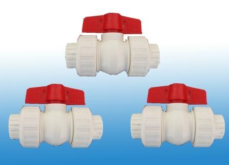 供應各種塑芯雙活接PPR球閥 1