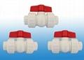 供應各種塑芯雙活接PPR球閥