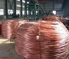 Low-oxygen copper rod