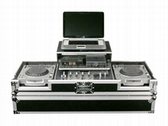 coffin dj flight case with computer stands (pioneer 2 cdj 1000&1 djm 800)