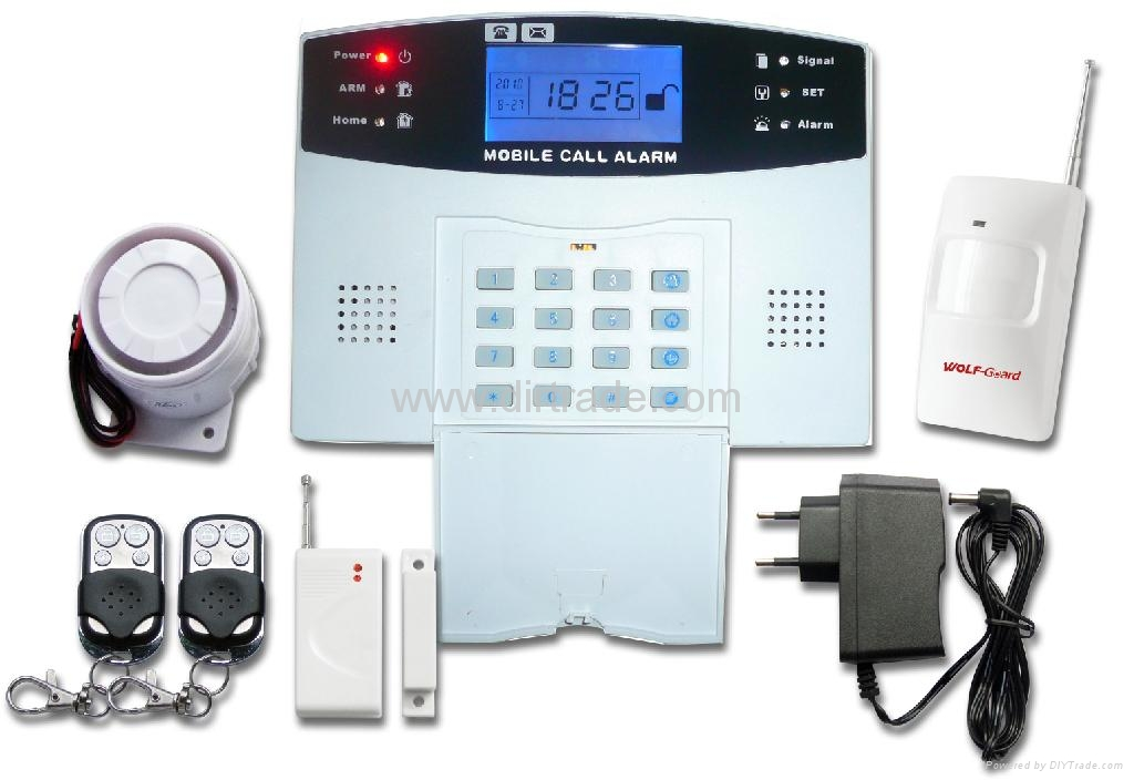 Gsm Home Alarm System With Lcd Screen Yl 007m2b Wolf