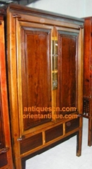 Chinese Antique Rose Wood Sa Cabinet