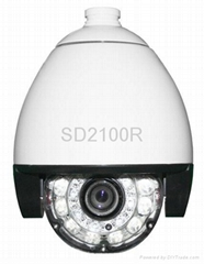 Outdoor IR high speed dome camera, support 18x,26,x36x,35x optical zoom