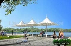 湖南膜結構遮陽傘