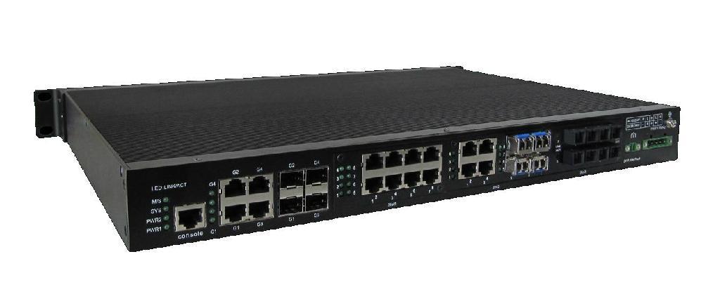 BDCOM Multiservice Managed Industrial Ethernet Switch 3