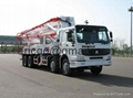 Truck-mounted concrete pump  37 M