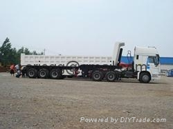 howo tractor and back dump  trailer 60T 1