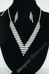 bridal rhinestone necklace set