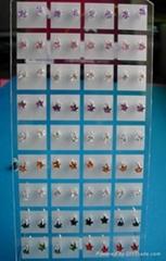 5mm round shaped cubic zircon Australia stud earrings