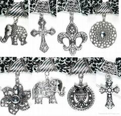 DIY scarf pendants charms