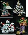 Crystal Christmas Brooches