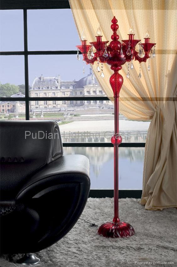 Murano glass floor lamp 3