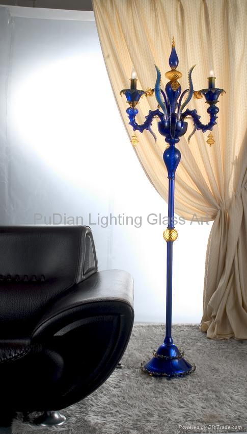 Murano glass floor lamp 4