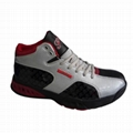 New style of sports shoes with PU upper in BLK/GRAY/RED