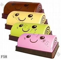 cake roll tissue box   F58