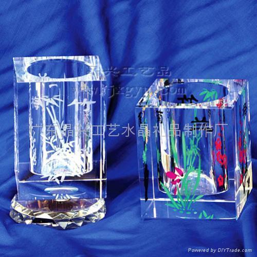 廣州水晶筆筒 4