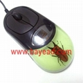 Real Insect Amber Optical Computer Mouse