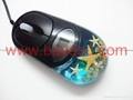 Real starfish Amber Optical Computer Mouse For priemium gift business gift