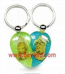 Novel starfish amber keychains advertising gift