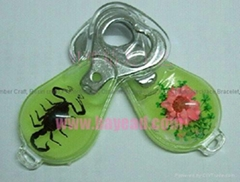 Real insect Amber Bottle Opener For Promotion Gift Corporate Gift
