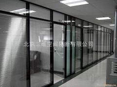 双层玻璃百叶隔断产品