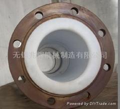 鋼襯塑化工防腐設備無縫鋼管襯聚四氟F4防腐管道管件