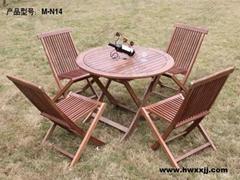 美式實木桌椅