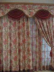 jacquard curtain fabric 10008-16