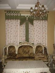 jacquard curtain fabric 10020-1