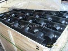 steel pipe fitting Tee