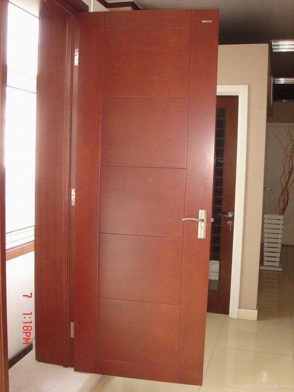 Interior wooden door p 001 flush door china manufacturer for Flush interior wood doors