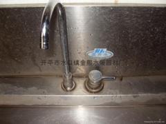 Vertical water dispenser faucet