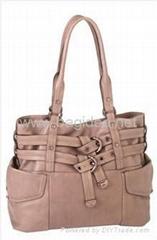 Beige shoulder handbags for ladies