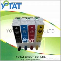 Refillable inkjet cartridge for Epson T1281,T1291, T1301,T1241,T1251,T1261