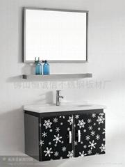 彩色不锈钢雪花浴柜台面板