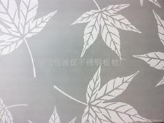 彩色不锈钢无指纹蚀刻板