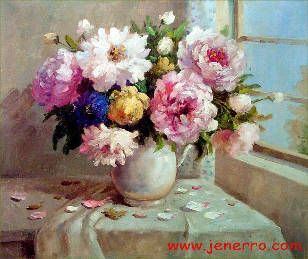 Oil paintings still flower on canvas product catalog for How to paint flowers with oil paint