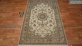 Factory price! hand knotted wool and silk blend rug
