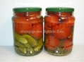 PICKLED ASSORTED CUCUMBER AND TOMATOES IN JAR 720ML