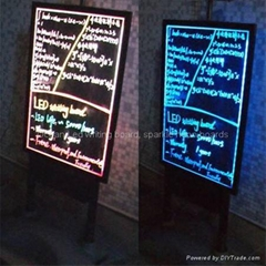 Double side led writing board