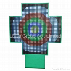 P16 Full Color LED Pharmacy Cross Display (3D)