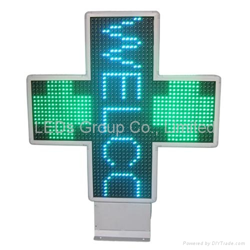 P10 Two Color LED Pharmacy Cross Display (2D/3D) 1