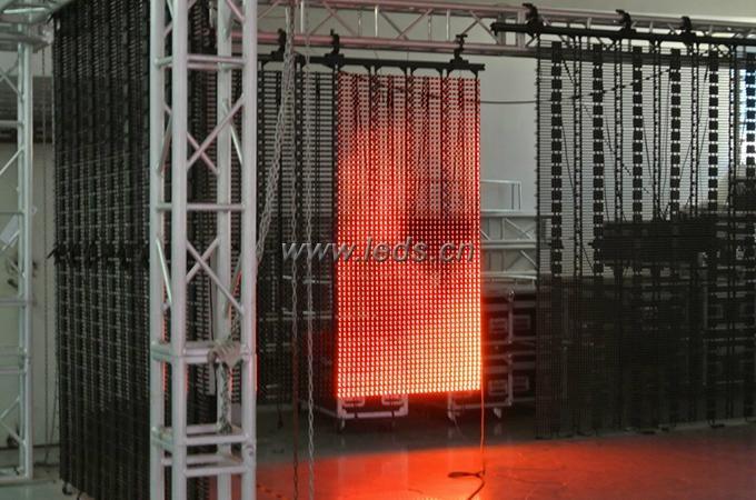 Indoor Rental P15.625 LED Flexible Curtain Screen 5