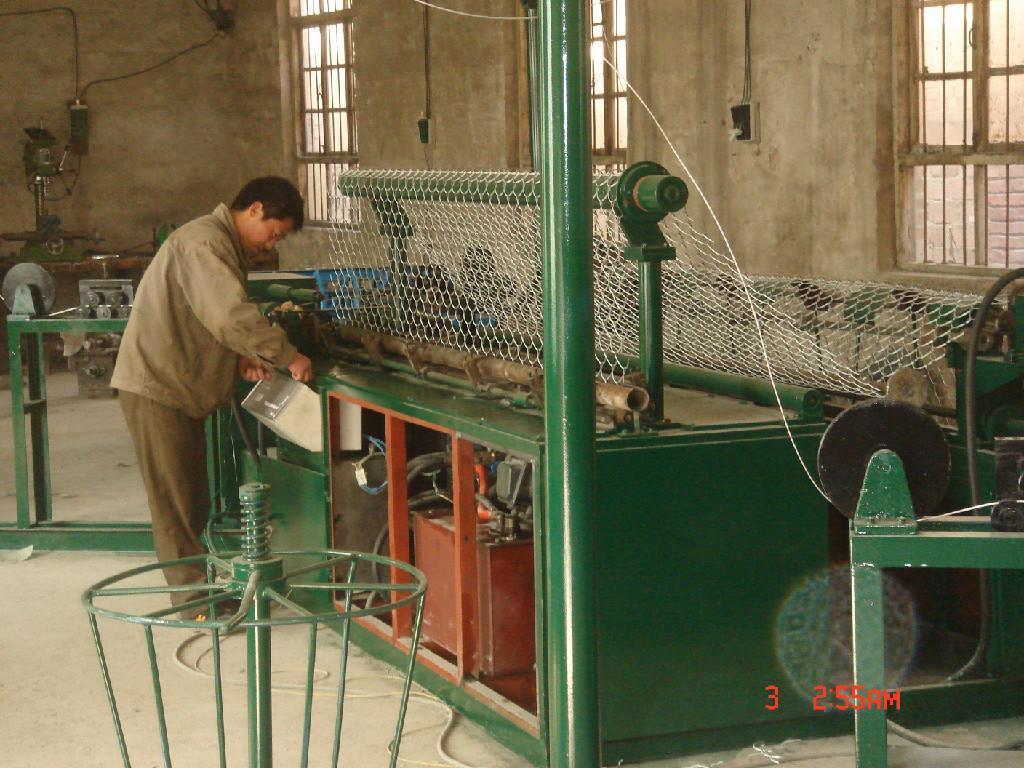 菱形铁丝网编织机械 勾花网机械