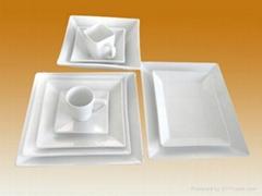 DS0936-white porcelain dinner set