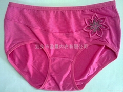 生产加工女士绣花内裤