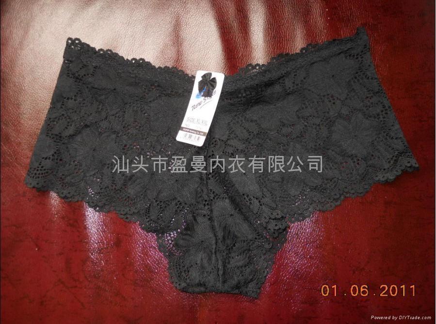 汕头内衣厂生产蕾丝花边平脚内裤 5
