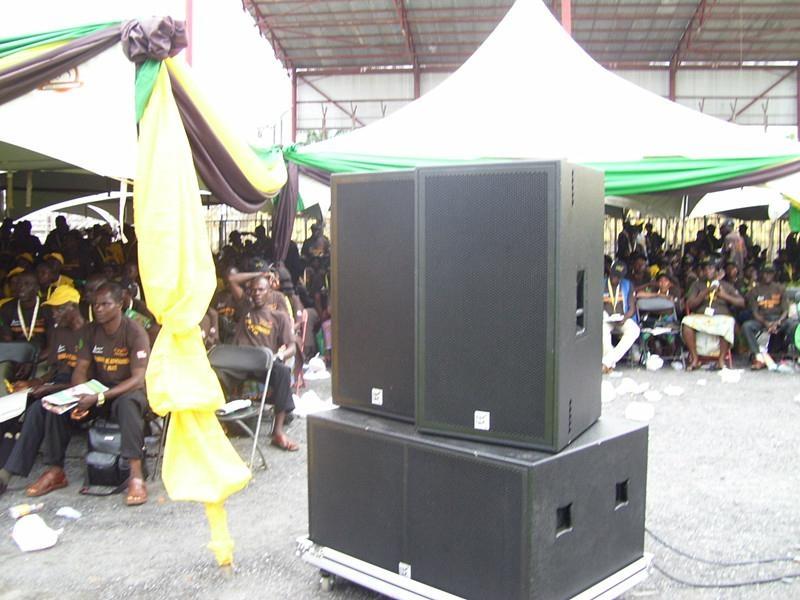 "PA speaker Dual 18"" Subwoofer subass 4"