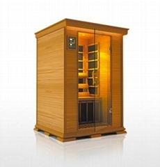 Red cedar infrared sauna room